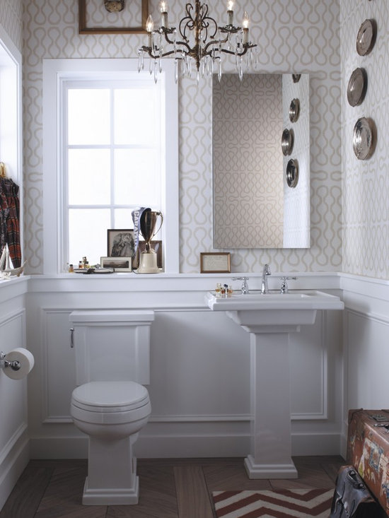 Eclectic Preppy Powder Room